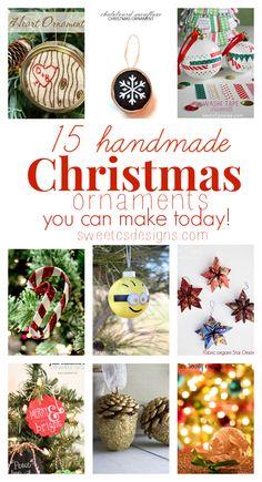15 handmade christmas ornaments you can make today!
