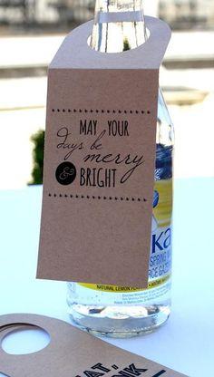 Wine Bottle Gift Tags Kraft Tags set of 10
