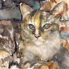 "Daily+Paintworks+-+""Cat""+-+Original+Fine+Art+for+Sale+-+©+jean+krueger"