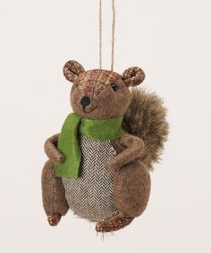 Christmas Squirrel Ornament | zulily