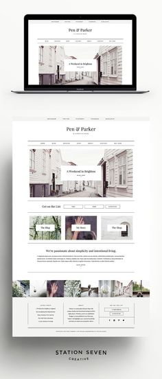 Parker - A Lifestyle Blog Theme by Station Seven on @creativemarket
