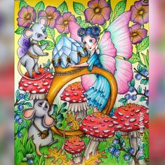 "Edyta Szostek on Instagram: ""#fairymiraclescoloringbook #milovaneneznosti #klaramarkova #polychromos #adultcoloringbook #coloringbook"" Coloring Tips, Adult Coloring, Coloring Books, Coloring Pages, Mushroom Art, Markova, Up Book, Polychromos, Fairy Art"