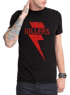The Killers Faded Bolt Logo T-Shirt   Hot Topic