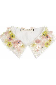 MARNIEmbellished cotton-poplin collar  ...WAAAAAAAAAAAAAAAAANT