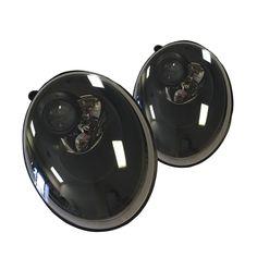 06-10 Volkswagen VW Beetle Black Halogen Headlights Set