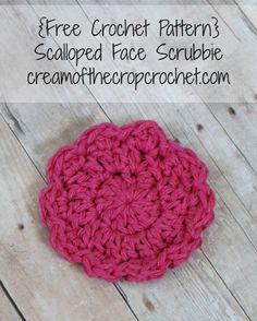 This scalloped face scrubbie is prefect for an age to help clean their face. Make sure to share your finished project on our Facebook page!