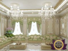 The process of working on each project are always filled with joy and inspiration. This interior living room, which is associated with the tradition of hospitality, professional work and cultural heritage. Classic style combined with oriental not. Room Design, Hall Interior Design, Interior Design Companies, Interior Design Dubai, Interior Design Living Room, Luxury Mansions Interior, Living Design, Living Room Designs, Luxury Italian Furniture
