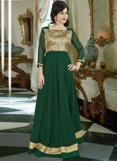 Is Designed Pure Georgette Fabric With Golden Pita Work On Neck Sleeves With Lace Work.Accessories Shown In The Image Is Photography Purpose Only. Georgette Fabric, Pakistani Suits, Bridesmaid Dresses, Wedding Dresses, Salwar Kameez, Party Wear, Gowns, Pure Products, Formal