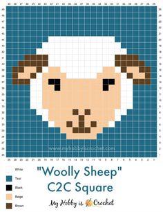 Crochet C2c Pattern, Pixel Crochet, Crochet Squares, Crochet Stitches, Free Crochet, Cross Stitch Charts, Cross Stitch Designs, Cross Stitch Patterns, Knitting Charts