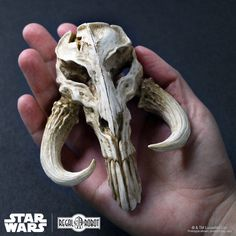 Our Mandalorian Skull mini sculpture is a wonderfully realistic interpretation of the mysterious skull marking seen on the armor of iconic bounty hunter, Boba Fett. The mini skulls are an eye-catching piece of artwork sure to bring a bit of the Star Wars™ universe to any home or office, desk or shelf.  Each skull is made in the USA, hand painted, and comes ready to display in a beautiful full color box.  Shipping prices are calculated for the continental United States. Please contact us for…