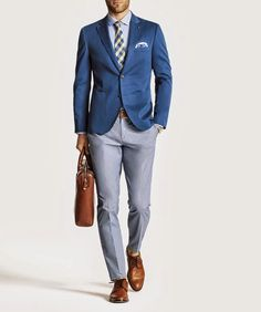 finest selection 88268 e701b Blazer Outfits, Blazer Fashion, Blue Blazer Outfit Men, Suit Fashion, Mens  Fashion