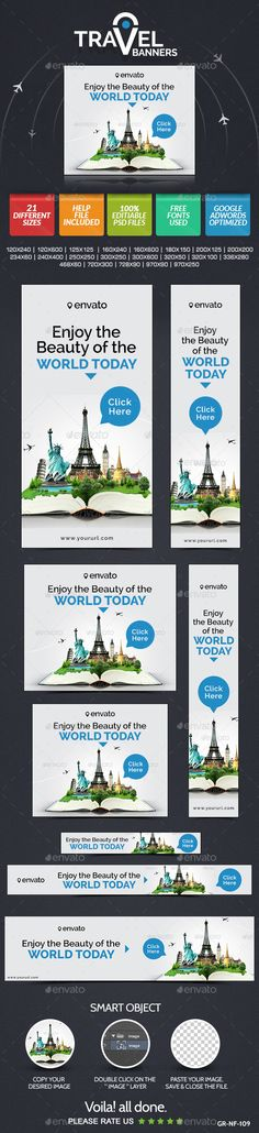 Travel & Tourism Web Banner Design Set | Buy and Download: http://graphicriver.net/item/travel-tourism-web-banner-design-set/9060467?WT.ac=category_thumb&WT.z_author=doto&ref=ksioks