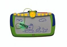 Fisher Price Light Sketcher by Fisher Price. $22.95. Light from the pen reacts with special ink on the product drawing surface, allowing the child to draw with light. Large screen mechanical drawing toy that lets children express themselves with the magic of light. Features 12 small detailed stencils, powered by 4 AA batteries in the base. From the Manufacturer                It's a bright new idea in creative drawing fun-now kids can draw with light! Light pen...