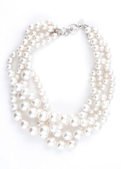 A Louisiana girl can never have enough pearls and we wear them with tshirts and jeans and with formals !!