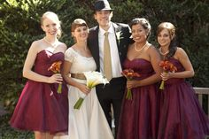 Show me your Bordeaux, burgundy and wine colored Bridesmaid dresses - Weddingbee