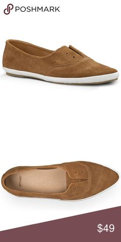 """SANUK """"Kat Paw"""" Luxe Slip-Ons (8) NEW SANUK """"Kat Paw"""" Luxe Tobacco Slip-Ons (8) Premium Suede Upper Premium Molded EVA Footbed – With breathable pig skin. Molded Rubber Outsole – With leather logo inlay. Sleek Pointed Toe Silhouette Faux Lacing NEW w/TAGS (Retail $74.95) Sanuk Shoes Flats & Loafers"""