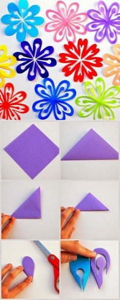 Pets, Home & Garden: Ideal toys for small cats Origami Paper, Diy Paper, Paper Art, Paper Crafts, Flower Crafts, Diy Flowers, Paper Flowers, Flowers Decoration, Diy And Crafts