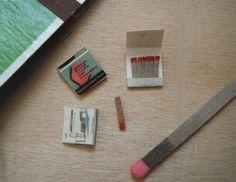 Miniature Matches. $4.50, via Etsy.