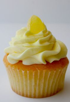 Lemon Drop Cupcakes. (Use Limoncello instead of fresh lemon juice in the batter, or a lemon flavored vodka. Limoncello could also be used in the lemon glaze. Frost with a light lemon flavored buttercream)