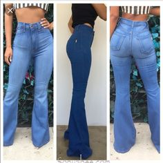 Bell bottom High waisted black jeans High waisted denim jeans with tags brand new Fashion Nova Jeans Flare & Wide Leg