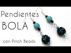 Pendienta de Bola con Pinch Beads