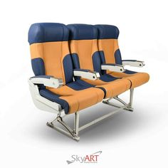 We upcycle old airplane seats for use in homes, offices or wherever they are needed. Our refurbishment standards are so high that it is hard to tell whether the original look or the refurbished style is more stunning. #skyart #bespokefurniture #upcycled #bespokefuniture