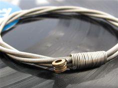 Bracelet made from guitar strings!