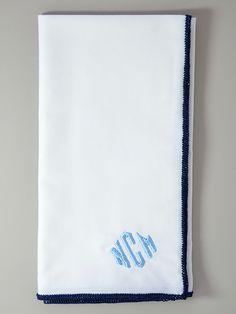 O'Harrow's Cotton Monogrammed Pocket Square