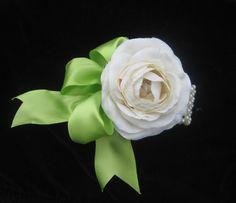 Silk flower corsage - a beautiful alternative to the flower bouquet.