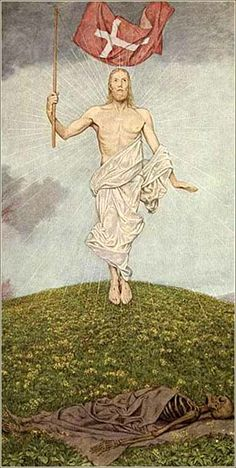 Auferstehung (resurrection) by Hans Thoma (German; Hans Thoma, Caspar David Friedrich, Christian Artwork, Expressionist Artists, Life Of Christ, Biblical Art, Classic Paintings, Country Scenes, Art Themes