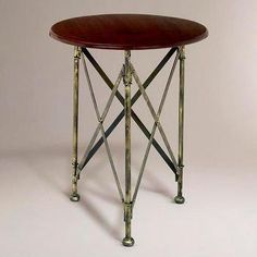 Walker Campaign Accent Table - World Market