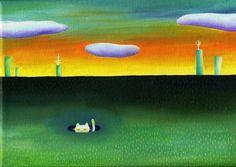 ねこ旅シリーズ油絵です。サイズ15㎝X21cmキャンバス|ハンドメイド、手作り、手仕事品の通販・販売・購入ならCreema。