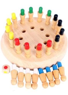 ✅Chess improves children's memory😮 ✨Suitable for kids and seniors😍 ✨Trains kids Memory & Cognitive ability crafts for kids to make wooden toys Wooden Memory Match Stick Chess Educational Toys For Kids, Kids Toys, Wood Games, Wooden Board Games, Diy And Crafts, Crafts For Kids, Montessori Toys, Diy Games, Wooden Diy