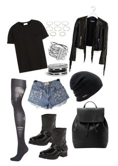 """""""My kind of favourite outfit."""" by jessicamallot on Polyvore featuring GUESS, Topshop, Frame Denim, Balmain, Love Moschino, MANGO, Coal, Michael Kors and Forever 21"""