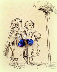 Swarovski Crystal Heart Heliotrope Earrings by RoseCottageVintage, $9.99