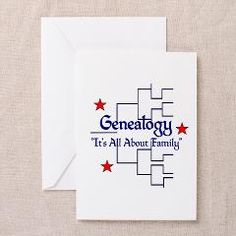 """Family Tree Chart Greeting Cards (Pk of 10) > """"It's All About Family"""" > Genealogy Store USA"""