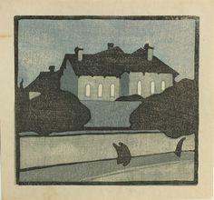 Kiichi Okamoto (1888 - 1930): Street in the Evening.
