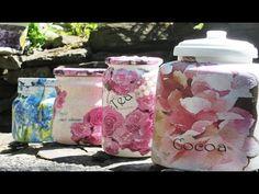 How to make decoupage jars - Fast & Easy Tutorial - DIY - YouTube