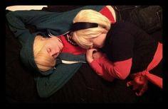 Sleeping Ecto Siblings by artfulImpersonator