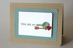 You Are My World Card by Heather Nichols for Papertrey Ink (April 2014)