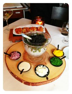 Petrossian Caviar and accoutrement at Providence, Los Angeles, by Jeremiah Christopher #Photograph #Foodie #Petrossian