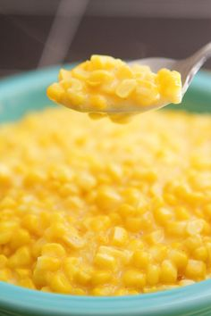 Southern Skillet Corn Recipe ~ Says: What makes this corn so special is that it's got the best of both worlds. It has that wonderful creamy quality of creamed corn, but the corn itself is still crisp and fresh like it's straight off the cob. Perfection!