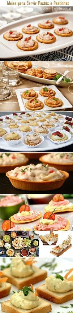 Aprenda a fazer 20 receitas práticas e deliciosas de pastinhas e patês para petiscos para servir em suas festas ou como entrada em almoço ou jantar especial.