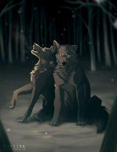 Wolves / (A Bond Between Siblings by Naviira.deviantart.com on @DeviantArt)