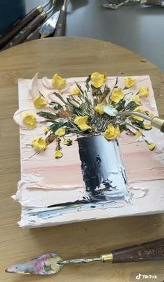 Canvas Painting Tutorials, Diy Canvas Art, Diy Painting, Painting Videos, Acrylic Art Paintings, Deep Paintings, Oil Painting Lessons, Textured Canvas Art, Building Painting