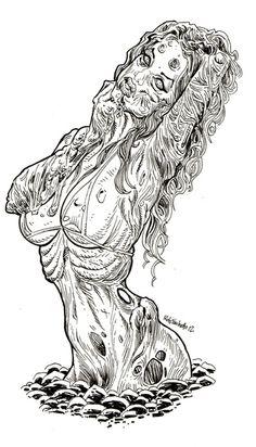 Zombie Pin Up Girls - Stoney Ground by Rob Sacchetto's Zombie Art