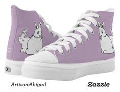 White Rabbits Mauve Lilac Shoes; ArtisanAbigail at Zazzle