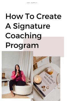 Want to create your signature coaching program? I'll teach you the important steps you need to know to stand out as a coach, attract high paying clients, and creating the life and business of your dreams! Business Advice, Online Business, Business Coaching, Business Quotes, Online Coaching, Sales Coaching, Online Entrepreneur, Entrepreneur Ideas, Create A Signature