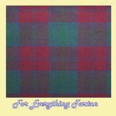 Lindsay Ancient Tartan Dupion Silk Plaid Fabric Swatch  by JMB7339 - $40.00