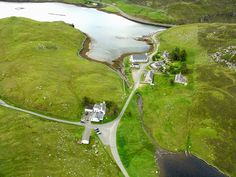 An aerial view of Miavaig, Isle of Lewis, Scotland